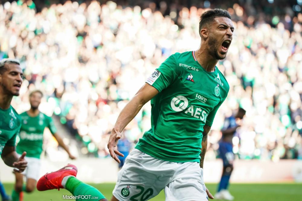 Denis Bouanga, attaquant de l'AS Saint-Etienne