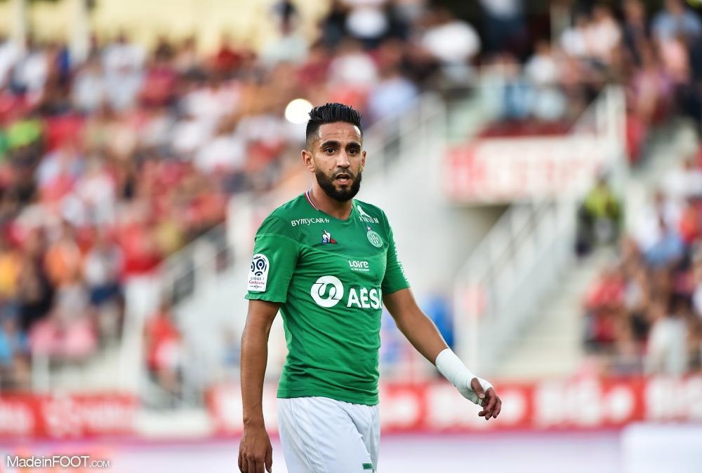 Ryad Boudebouz, le milieu de terrain offensif de l'AS Saint-Etienne.