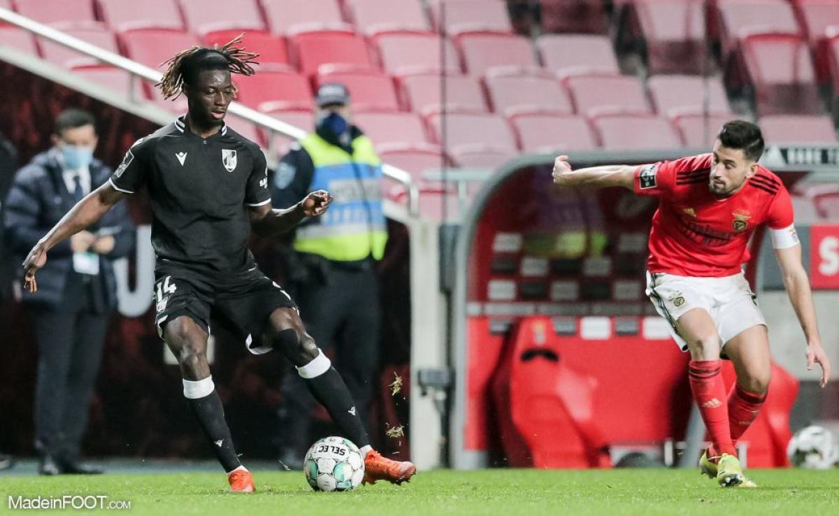 Gideon Mensah, ici sous les couleurs du Vitoria Guimarães.