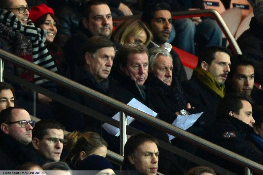 Harry Redknapp dans les tribunes du Parc des Princes pour superviser Capoue lors de PSG-Toulouse