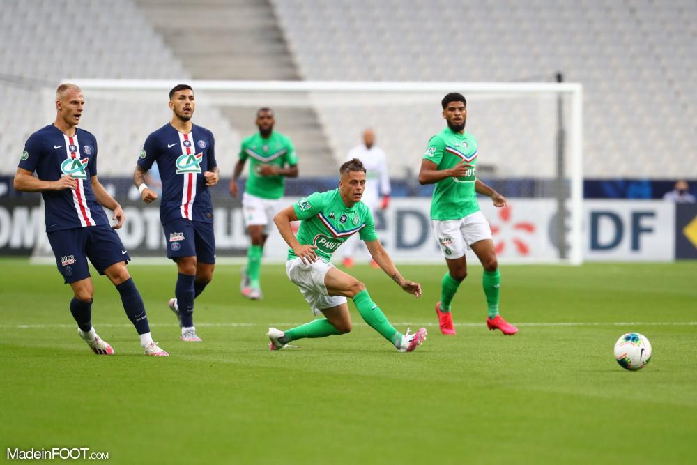 Mitchel Bakker (PSG), ici lors de la finale de la CDF face à l'AS Saint-Etienne.