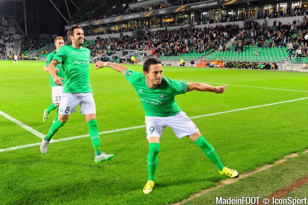 Nolan Roux et les Verts en sont à trois succès de rang en Ligue 1.