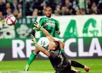 Florent SINAMA PONGOLLE  / Alexis THEBAUX  - 10.12.2011 - Saint Etienne / Caen  - 17eme journee de Ligue 1