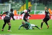 Florent SINAMA PONGOLLE / Jhon CULMA - 15.04.2012 - Saint Etienne / Brest - 32eme journee de Ligue 1 -