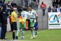 Florent SINAMA PONGOLLE / Pierre Emerick AUBAMEYANG - 21.04.2012 - Caen / Saint Etienne - 33e journee Ligue 1