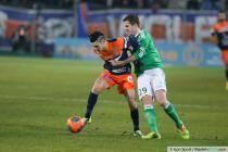 Remy CABELLA / Francois CLERC - 13.12.2013 - Montpellier / Saint Etienne - 18eme journee de Ligue 1 -