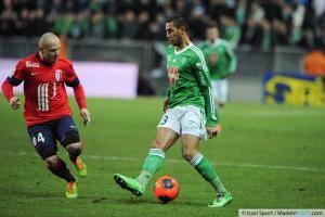 Faouzi Ghoulam, ici sous les couleurs de l'AS Saint-Etienne.