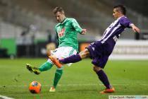 Francois Clerc / Wissam Ben Yedder - 07.02.2014 - Toulouse / Saint Etienne - 24eme journee de Ligue 1 -