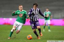Jonathan Brison / Oscar Trejo - 07.02.2014 - Toulouse / Saint Etienne - 24eme journee de Ligue 1 -