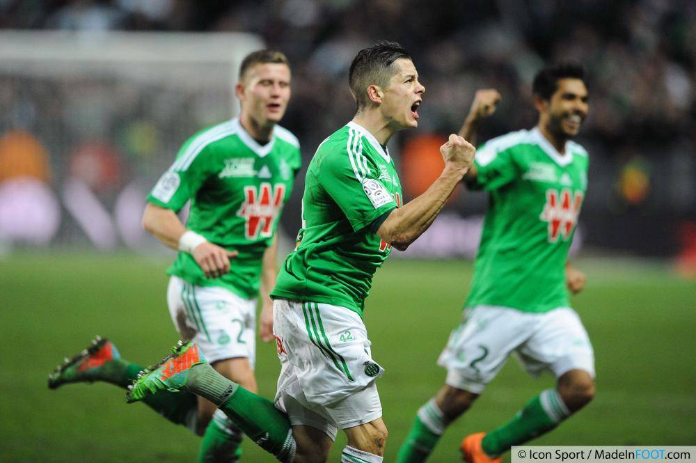 Les Verts de l'AS Saint-Etienne ont dominé l'AS Monaco