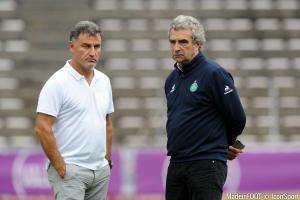 Dominique Rocheteau et Christophe Galtier (ASSE).