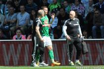 BLESSURE DE Franck TABANOU  - 12.04.2015 - Saint Etienne / Nantes - 32eme journee de Ligue 1