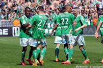 JOIE DE Max Alain GRADEL / Franck TABANOU  - 12.04.2015 - Saint Etienne / Nantes - 32eme journee de Ligue 1