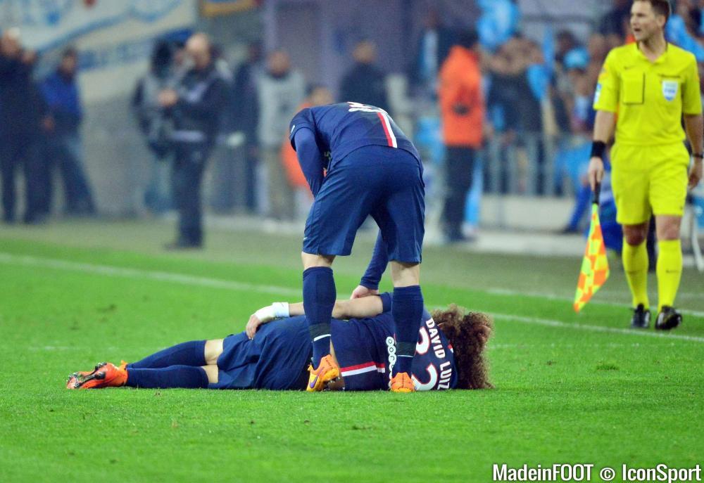 David Luiz (PSG) sera absent des terrains pendant quatre semaines.