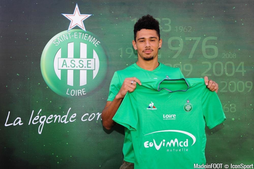 Kévin Malcuit (ASSE) est sous contrat dans la Loire jusqu'en 2019.