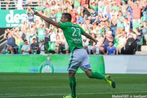 Robert Beric (ASSE) devrait retrouver les terrains à Rennes, dimanche après-midi.