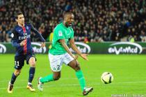 Angel DI MARIA / Kevin THEOPHILE CATHERINE - 31.01.2016 - Saint Etienne / Paris Saint Germain - 23e journee de Ligue 1