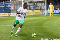 Kevin Theophile Catherine during the Ligue 1 between Bastia and Saint-Etienne at Stade Armand Cesari, Bastia, France on 16th April, 2016