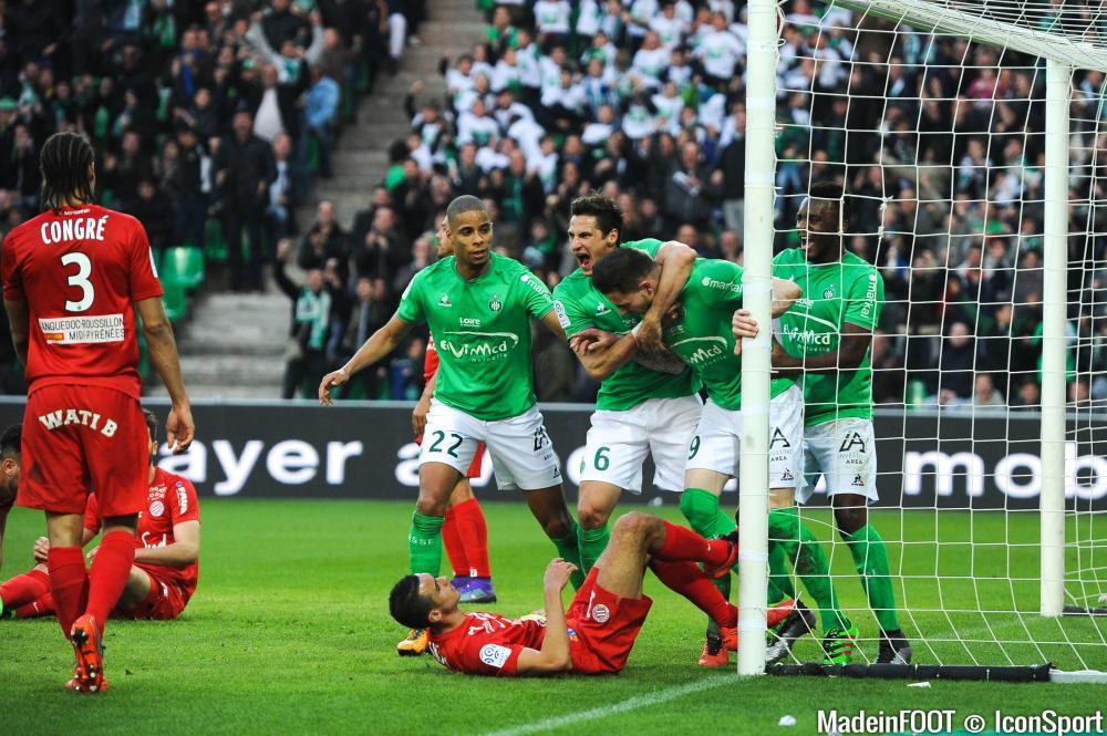 Les Verts de l'ASSE ont dominé le GFC Ajaccio (0-2), ce samedi soir.