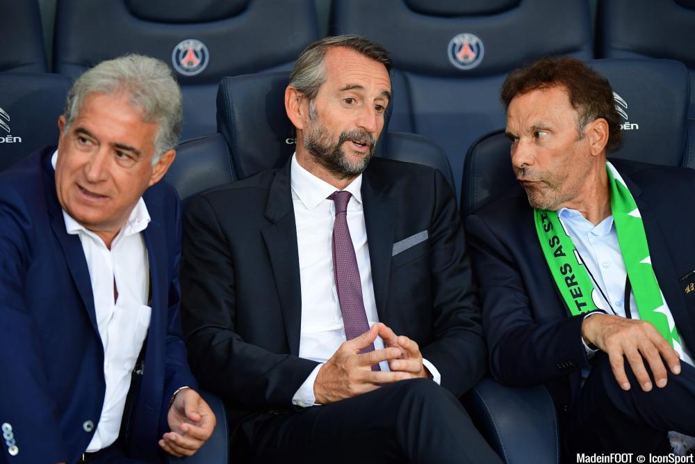 Bernard Caïazzo, le président du conseil de surveillance de l'AS Saint-Etienne, ici aux côtés de Roland Romeyer, président du directoire.