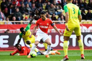 Radamel Falcao (AS Monaco) a repris l'entraînement collectif, ce jeudi.
