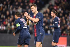 Thomas Meunier (PSG) ratera le déplacement à Saint-Etienne, dimanche soir.