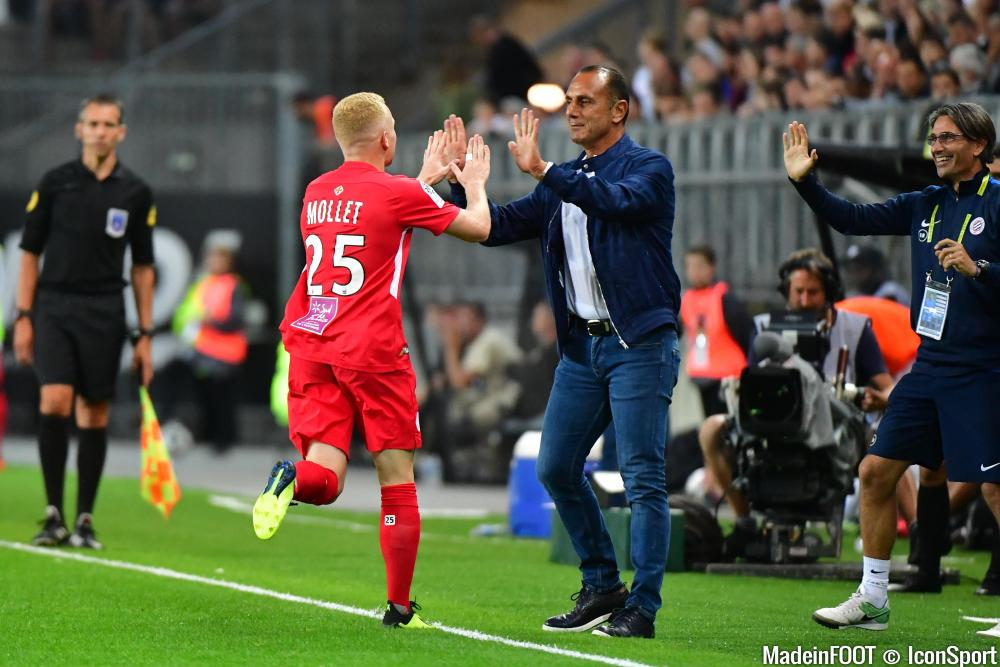 Le groupe du Montpellier HSC pour le match face à l'AS Saint-Etienne.