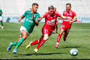Denis Bouanga, le nouvel ailier de l'AS Saint-Etienne.