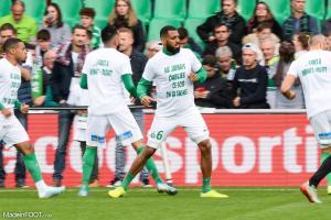 Les Verts ont arboré un tee-shirt en soutien à Kévin Monnet-Paquet.