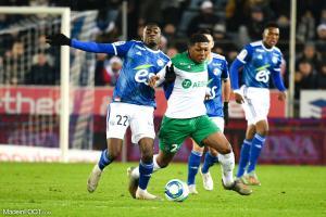 Zaydou Youssouf, le milieu de terrain de l'AS Saint-Etienne.