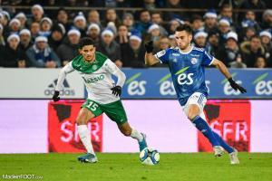 Bilal Benkhedim, le jeune milieu de terrain offensif de l'AS Saint-Etienne.