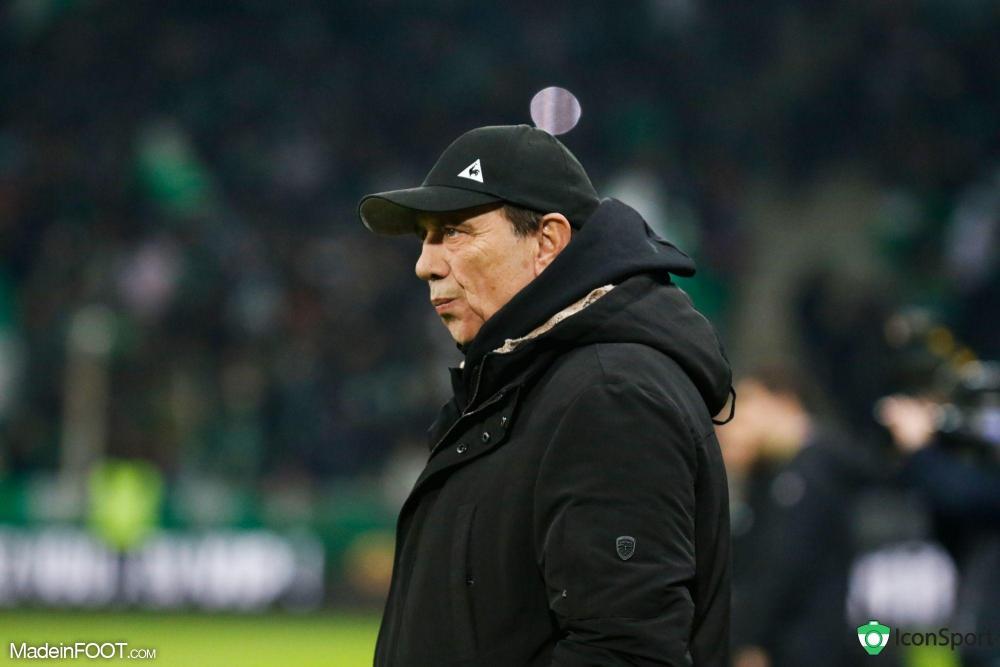Le groupe de l'AS Saint-Etienne pour le match face au Dijon FCO.