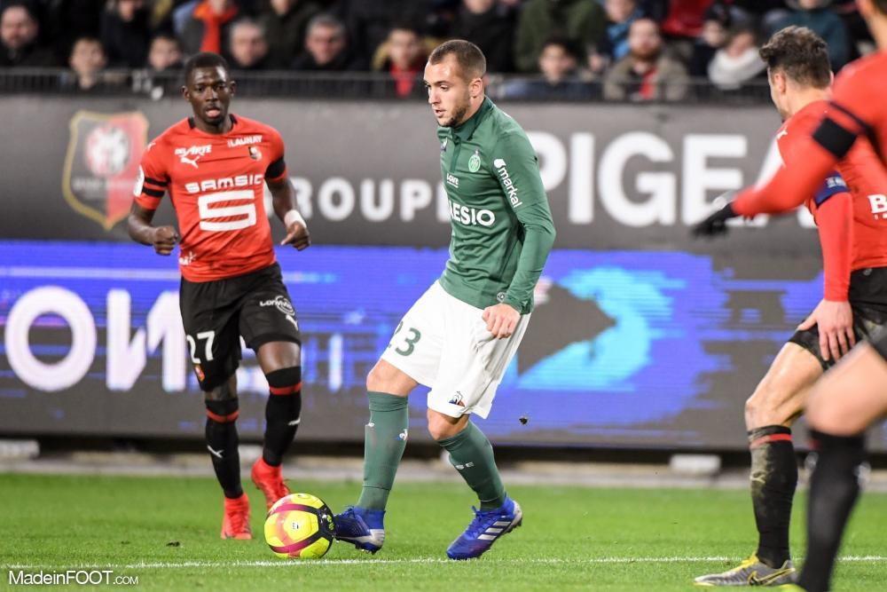 Valentin Vada, le nouveau milieu de terrain de l'AS Saint-Etienne.
