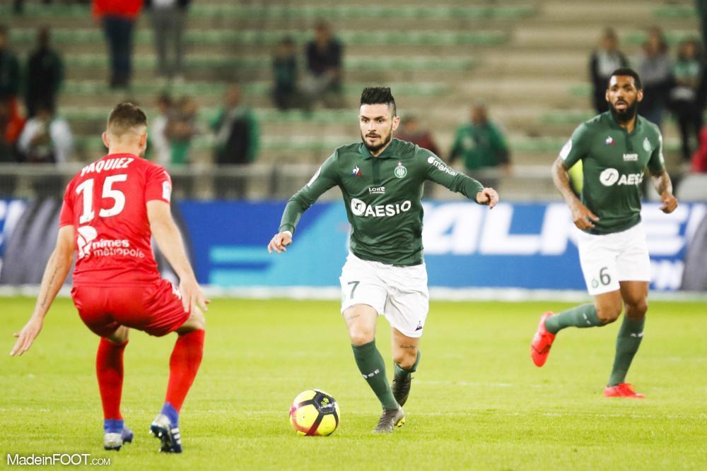 L'AS Saint-Etienne a dominé le Nîmes Olympique (2-1), ce lundi soir en Ligue 1.