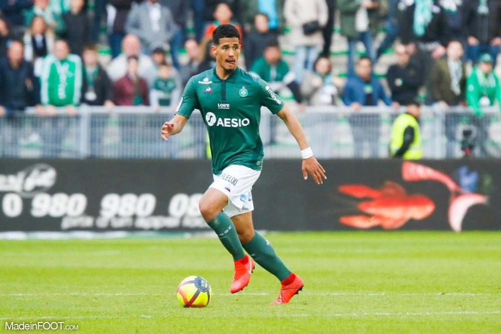William Saliba, ici sous les couleurs de l'AS Saint-Etienne.