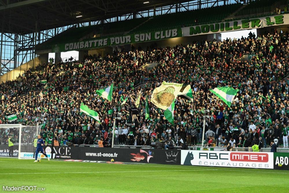 Les Green Angels occupent habituellement le kop sud de Geoffroy-Guichard