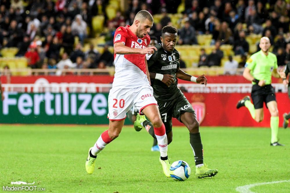 Islam Slimani, ici sous les couleurs de l'AS Monaco.