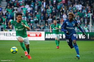 William Saliba, le futur défenseur central d'Arsenal, ici sous les couleurs de l'AS Saint-Etienne.