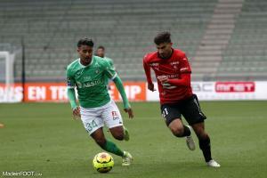 Aimen Moueffek, le jeune milieu de terrain de l'AS Saint-Etienne.