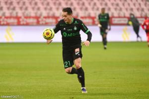 Romain Hamouma, attaquant de l'AS Saint-Etienne