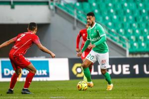 Denis Bouanga, l'ailier de l'AS Saint-Etienne.