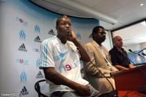 Djibril Cissé et Pape Diouf (OM)