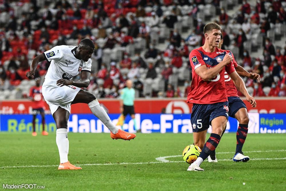 M'Baye Niang, l'attaquant du Stade Rennais FC.