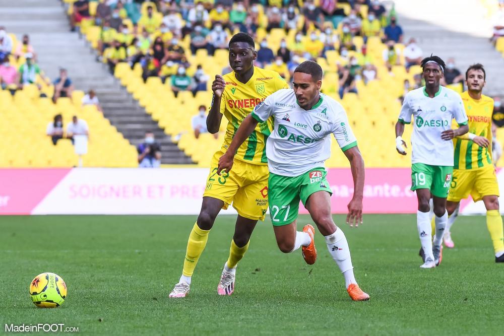 Yvann Maçon, le défenseur latéral droit de l'AS Saint-Etienne.