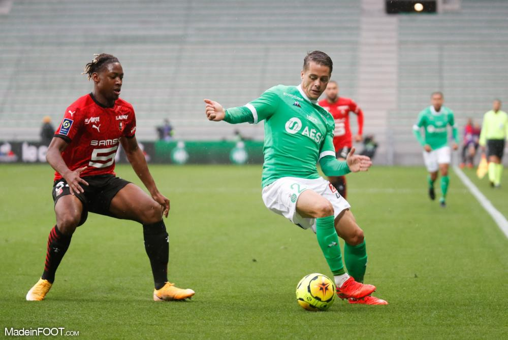 Romain Hamouma, l'attaquant de l'AS Saint-Etienne.