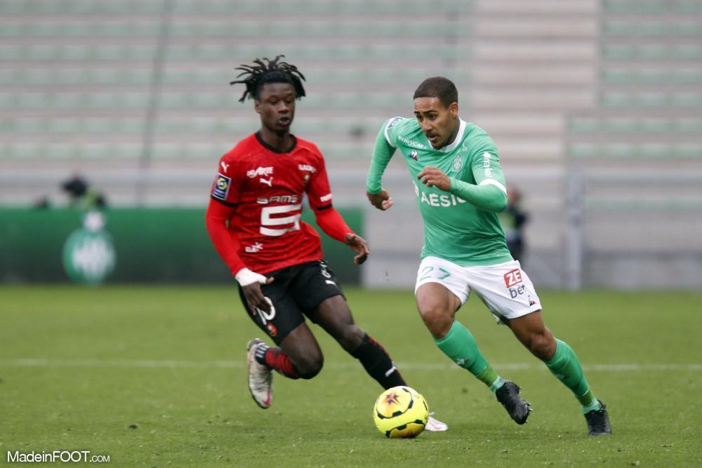 Yvann Maçon, le défenseur latéral de l'AS Saint-Etienne.