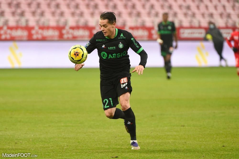 Romain Hamouma, attaquant de l'AS Saint-Etienne