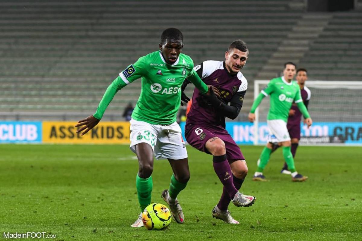 Lucas Gourna-Douath, le jeune milieu de terrain défensif de l'AS Saint-Etienne.