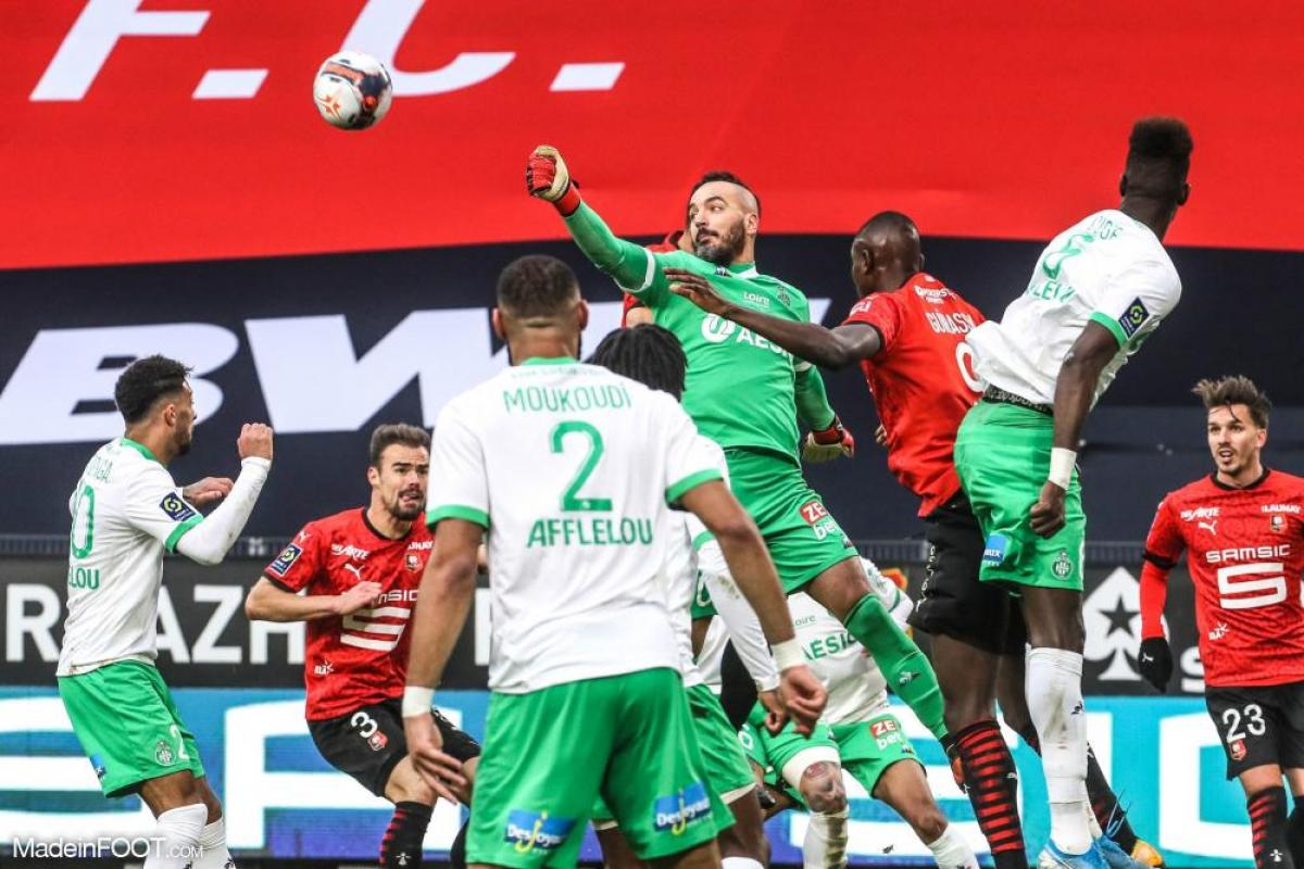 Jessy Moulin, le gardien de but de l'AS Saint-Etienne.