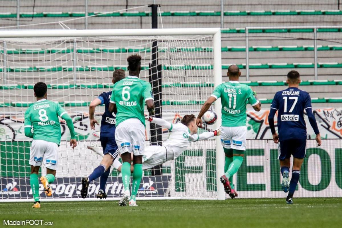 Etienne Green, le gardien de but de l'AS Saint-Etienne.